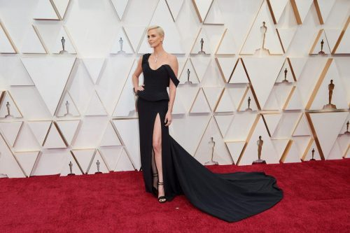 Oscar® nominee, Charlize Theron arrives on the red carpet of The 92nd Oscars® at the Dolby® Theatre in Hollywood, CA on Sunday, February 9, 2020.