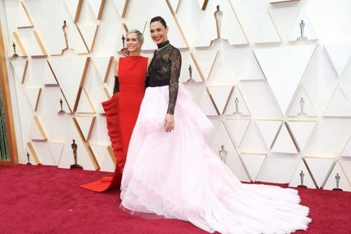 Kristen Wiig and Gal Gadot arrive on the red carpet of The 92nd Oscars® at the Dolby® Theatre in Hollywood, CA on Sunday, February 9, 2020.