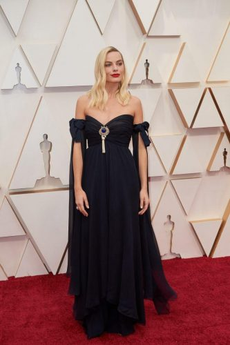 Oscar® nominee, Margot Robbie arrives on the red carpet of The 92nd Oscars® at the Dolby® Theatre in Hollywood, CA on Sunday, February 9, 2020.
