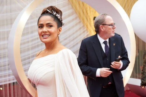 Salma Hayek arrives on the red carpet of The 92nd Oscars® at the Dolby® Theatre in Hollywood, CA on Sunday, February 9, 2020.