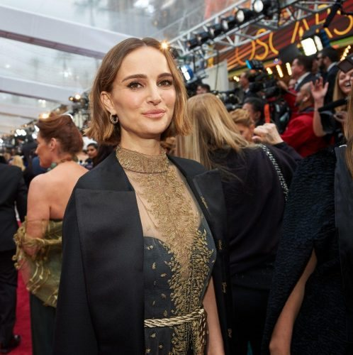 Natalie Portman arrives on the red carpet of The 92nd Oscars® at the Dolby® Theatre in Hollywood, CA on Sunday, February 9, 2020.