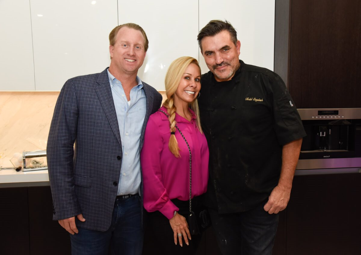Joe and Shannon Brooks with Todd English