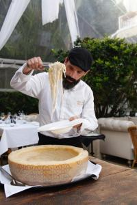Wheel of Parmiggiano and Chef Erwin