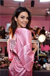 Kendall Jenner backstage at 2016 VS Fashion Show (1)