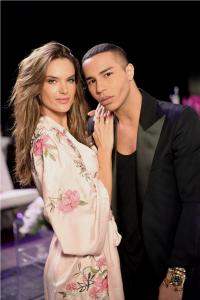Alessandra Ambrosio with Oliver Rousteing