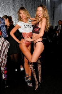 Candice Swanepoel, Behati Prinsloo at the 2018 Victoria's Secret Fashion Show