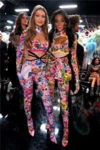 Gigi Hadid, Winnie Harlow at the 2018 Victoria's Secret Fashion Show