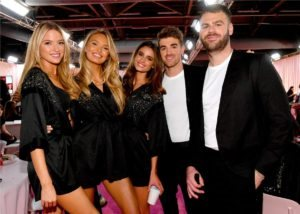 Martha Hunt, Romee Strijd, Taylor Hill, The Chainsmokers at the 2018 Victoria's Secret Fashion Show