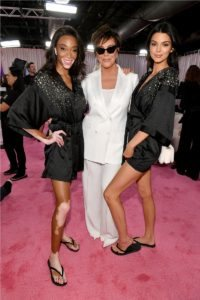 Winnie Harlow, Kris Jenner, Kendall Jenner at the 2018 Victoria's Secret Fashion Show