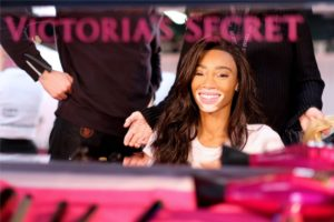 Winnie Harlow at the 2018 Victoria's Secret Fashion Show