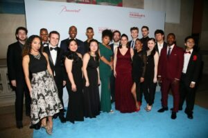 Alumni performance director Michael McElroy and cast (Photo by Astrid Stawiarz Getty Images for YoungArts)