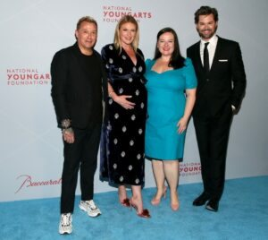 Jim Shreve, Sarah Arison, Zuzanna Szadkowski and Andrew Rannells (Photo by Astrid Stawiarz Getty Images for YoungArts)