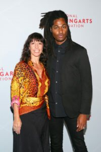 Lisa Leone and Kenyon Victor Adams (Photo by Astrid Stawiarz Getty Images for YoungArts)