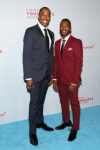 Michael McElroy and Daniel J. Watts (Photo by Astrid Stawiarz Getty Images for YoungArts)