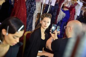 Backstage at Paris Fashion Week Couture 65