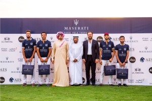Maserati Team with Amr Zedan, Ali Albwardy and Umberto Cini Managing Director, Maserati Middle East, Africa and Asia